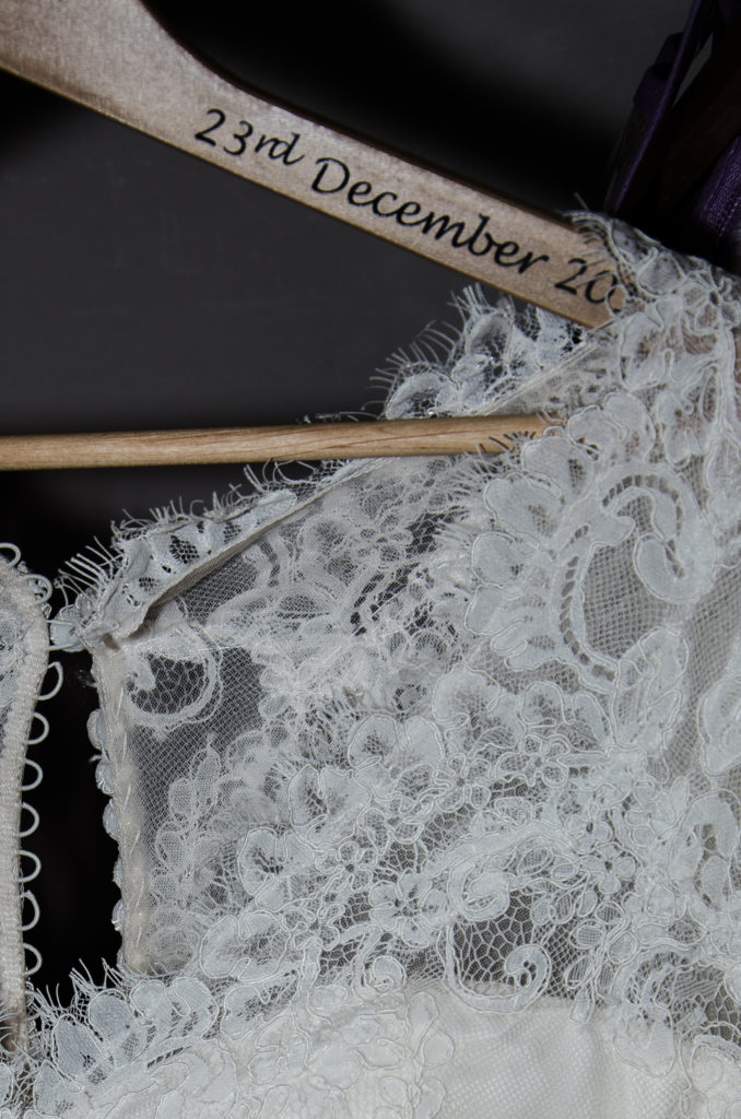 Wedding Dress detail Voco Oxford Thames