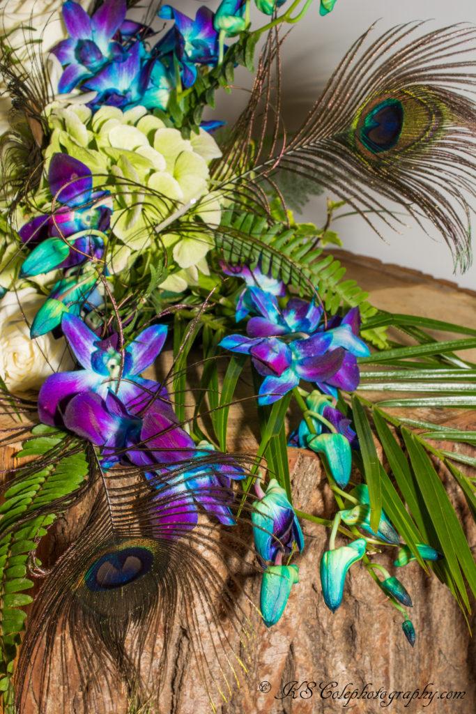 Blue orchid bride's bouquet Finstock Chipping Norton
