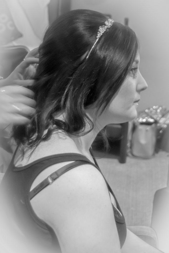 Bridal hair Voco Oxford Thames