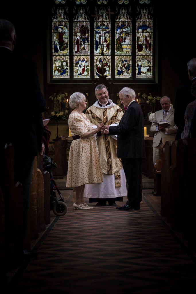 Church wedding ceremony Woodstock Oxfordshire