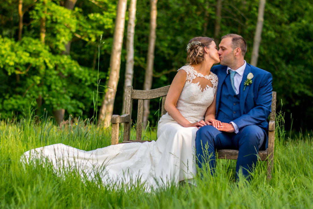 Bride and groom Country style wedding photography