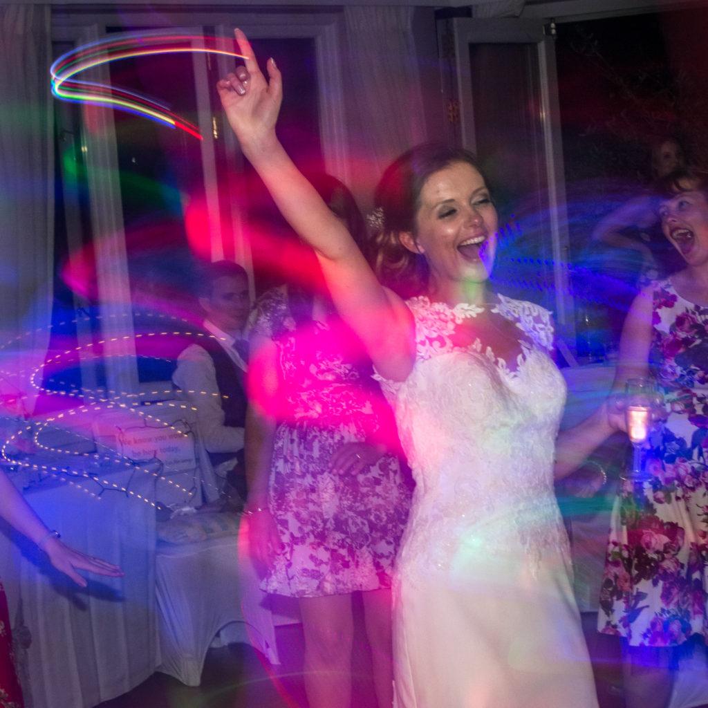 Bride dancing light effect