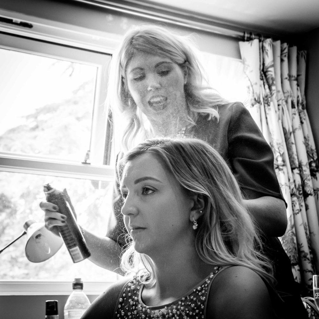 Bridesmaid hair Westwood Hotel Kennington Oxfordshire