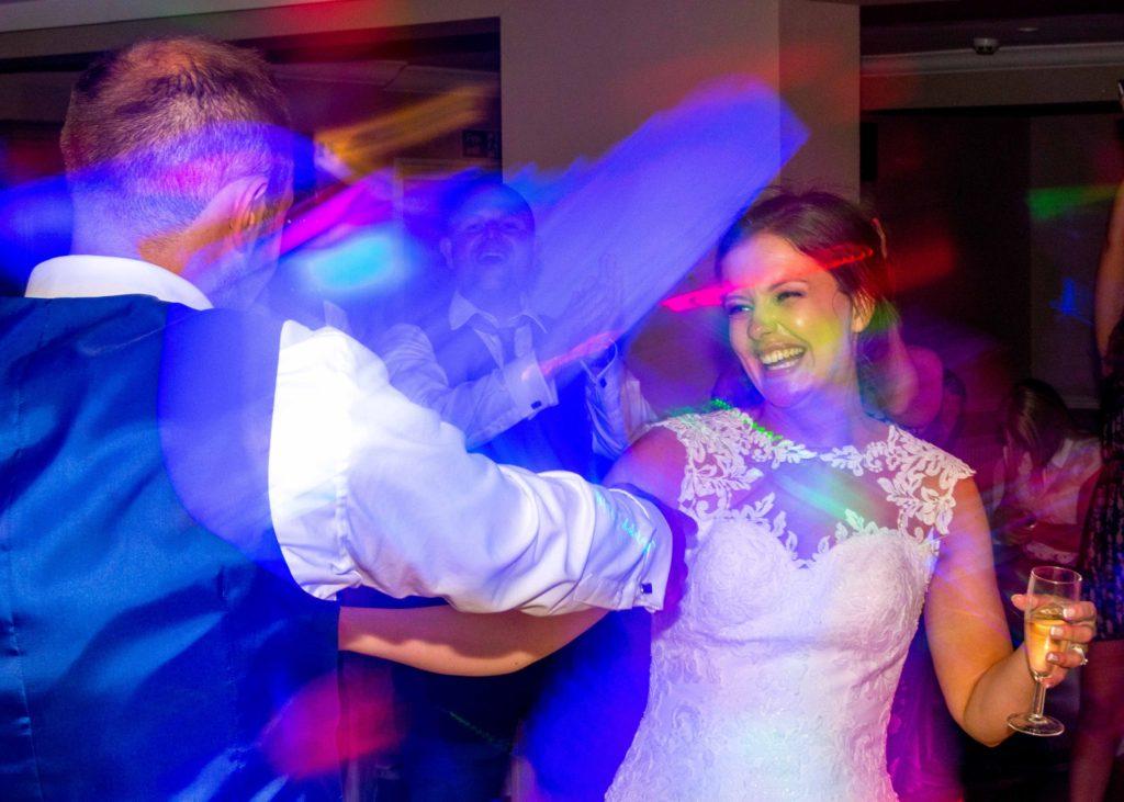 Bride after part dance