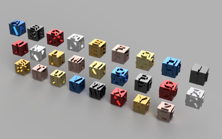 مكعب الحروف الأبجدية | التصميم والتكنولوجيا