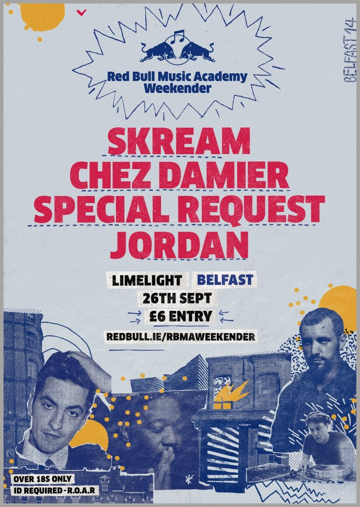 RBMA Belfast Weekender (Skream, Chez Damier & Special Request) free download