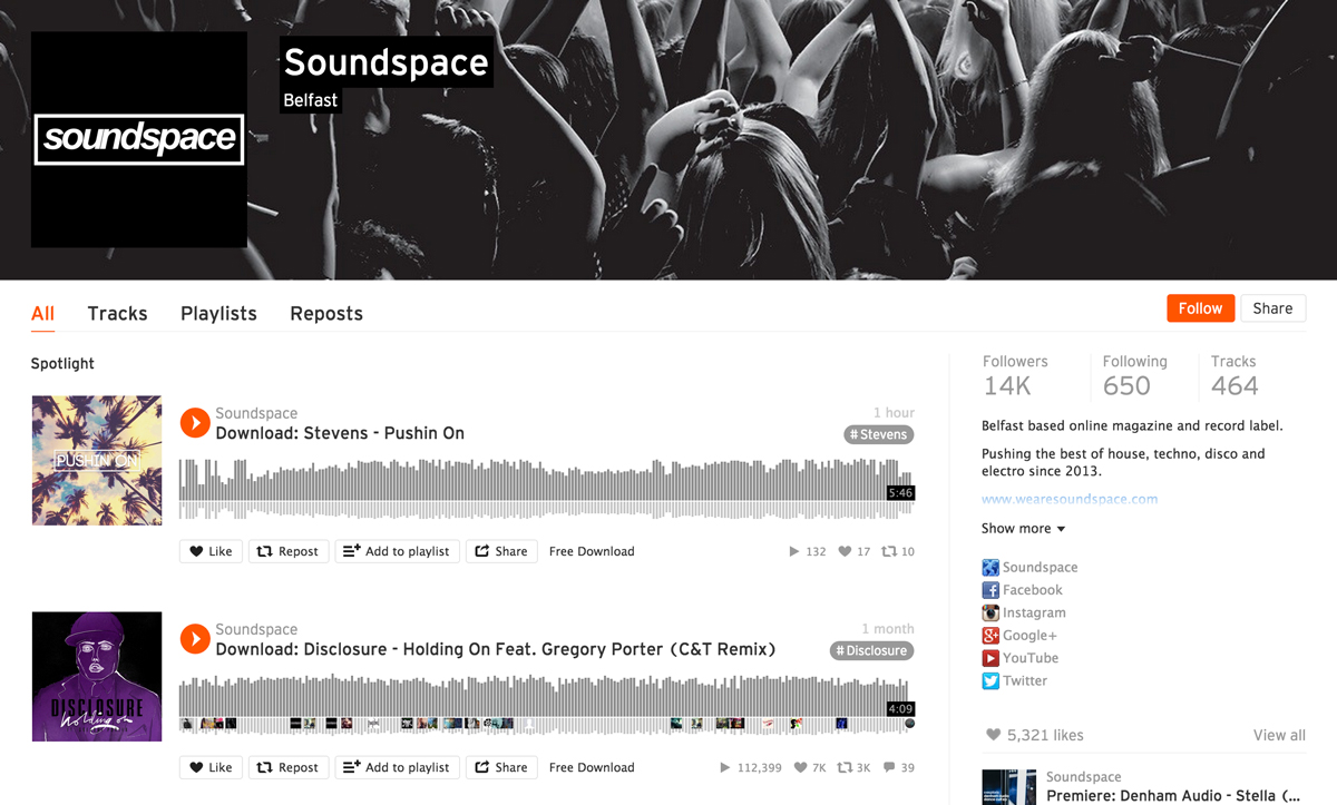 SoundCloud, News, Soundspace, Marketing, Social
