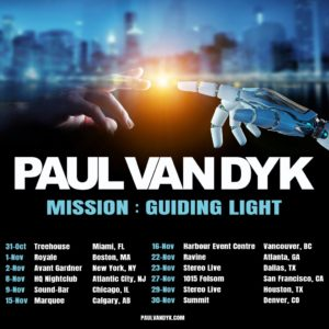 Paul van Dyk announces fall tour of North America
