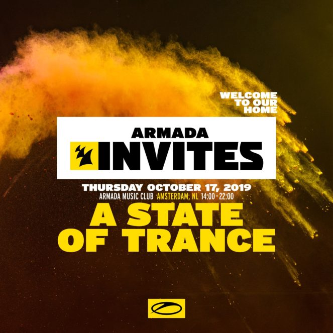 Armada Invites presents A State Of Trance at Armada Music Club, Amsterdam, NL for ADE 2019 on 17th of October 2019