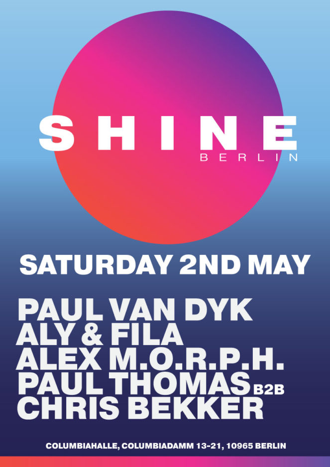 Paul van Dyk presents Shine at Columbiahalle, Berlin, Germany on 2nd of May 2020