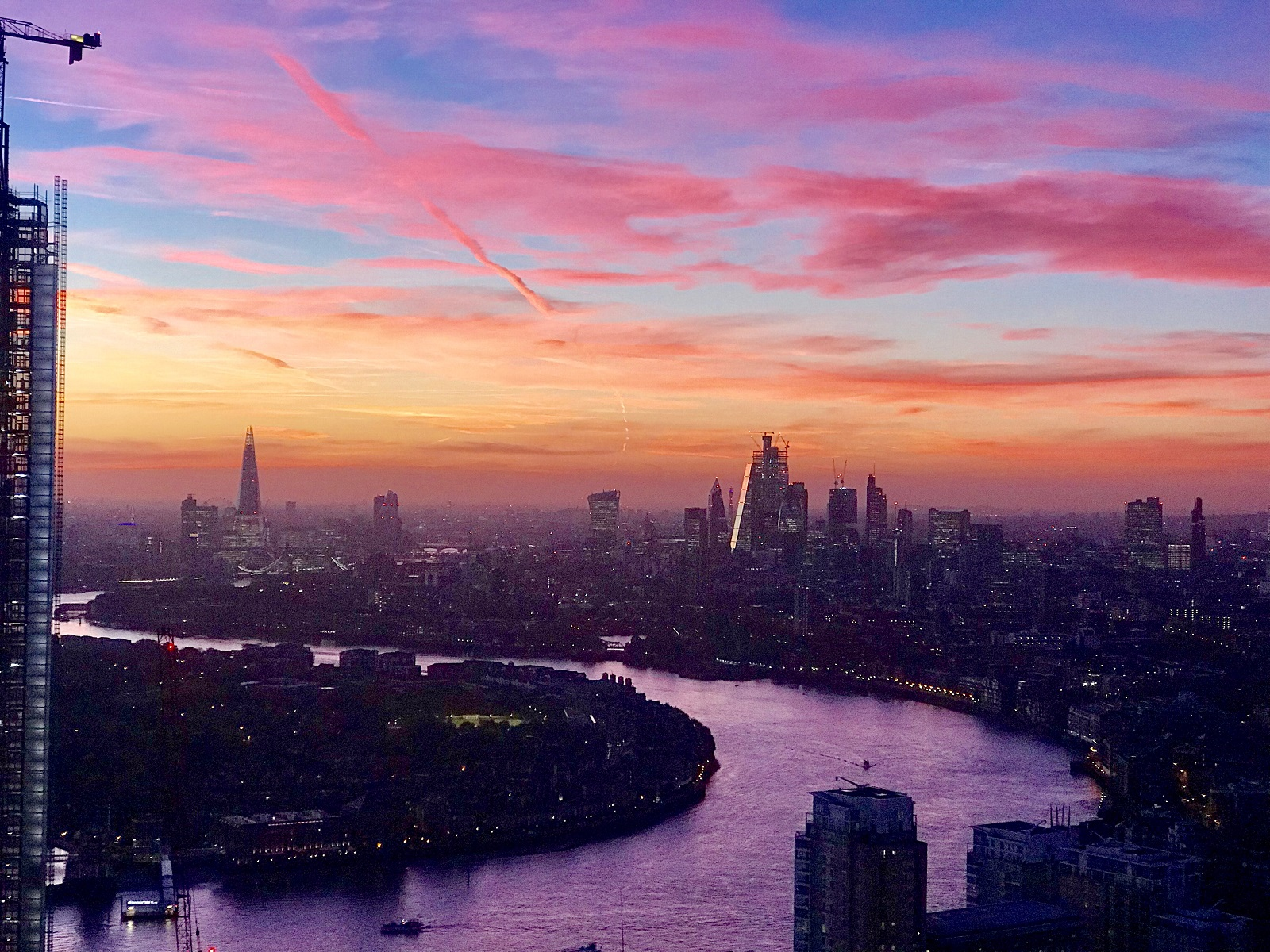 Sunset from Level39