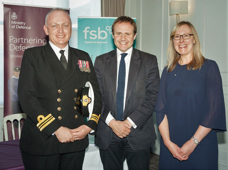 Tony Scott, Tom Tugendhat MP and Debbie Scott. Tony is the other co-founder and director of Scott Communications and is a serving Royal Naval Reservist.