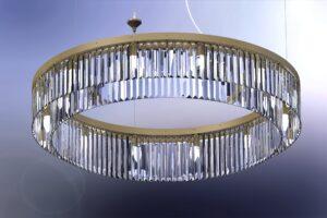 Large Bespoke Crystal Ring