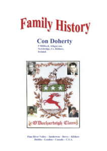 Cover of Family History book by Con Doherty.