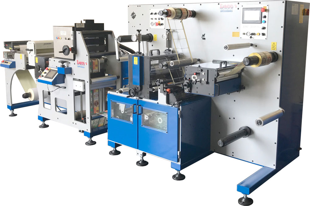 Daco DP350 Inkjet Label Press with semi-rotary die cutting