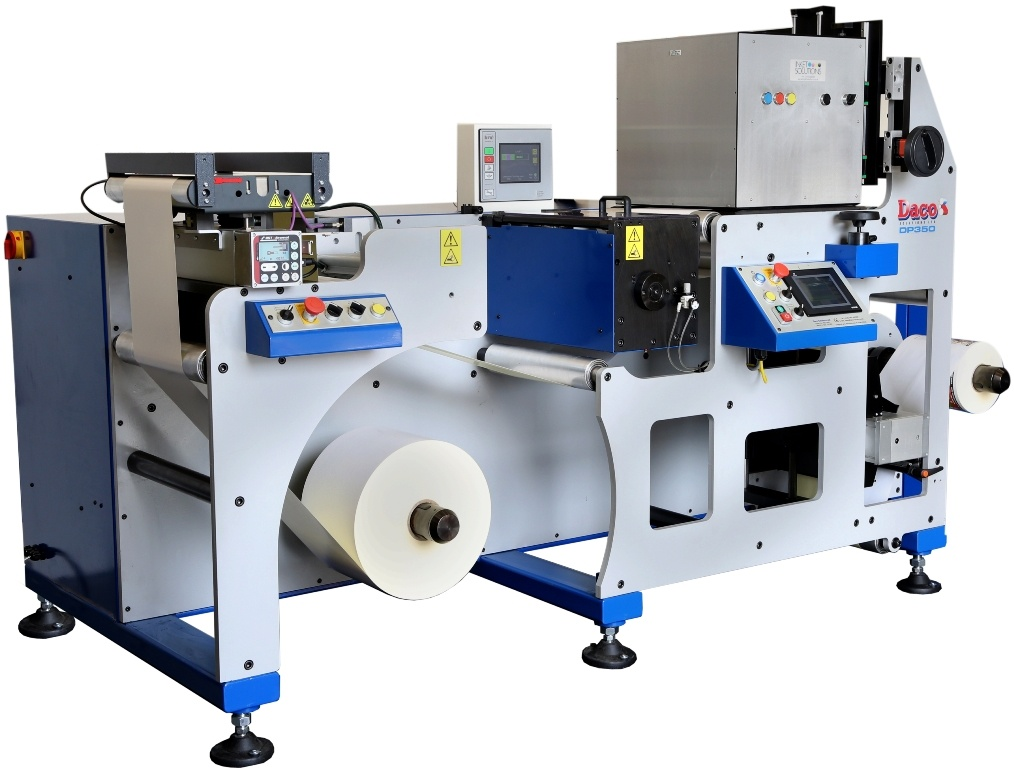 Daco DP350 UV Inkjet Label Press with InkJet Solutions Kyocera print heads