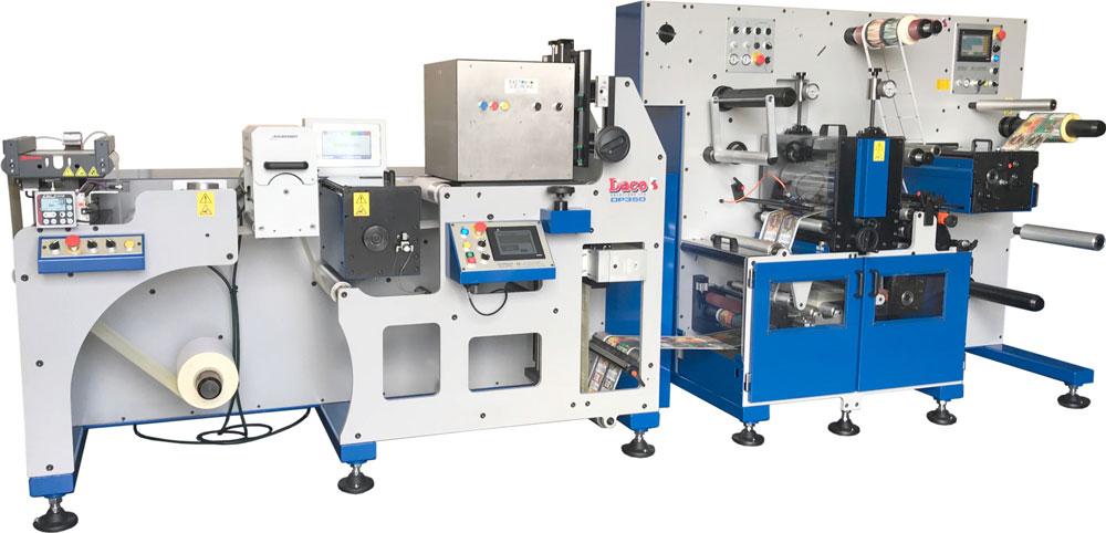 Daco DP350 Inkjet Label Press with Inkjet Solutions I-JET600 Label CMYK system