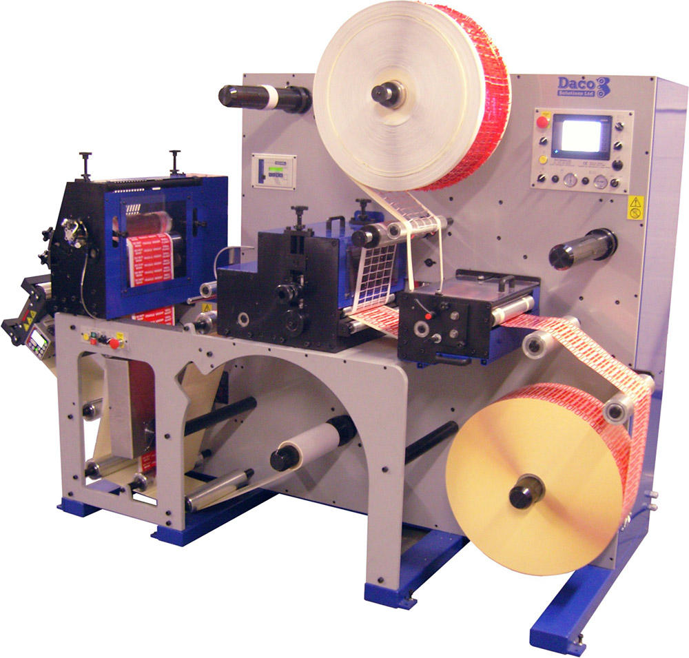 Máquina impresora de etiquetas flexográfica