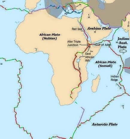 Africa tectonic plates