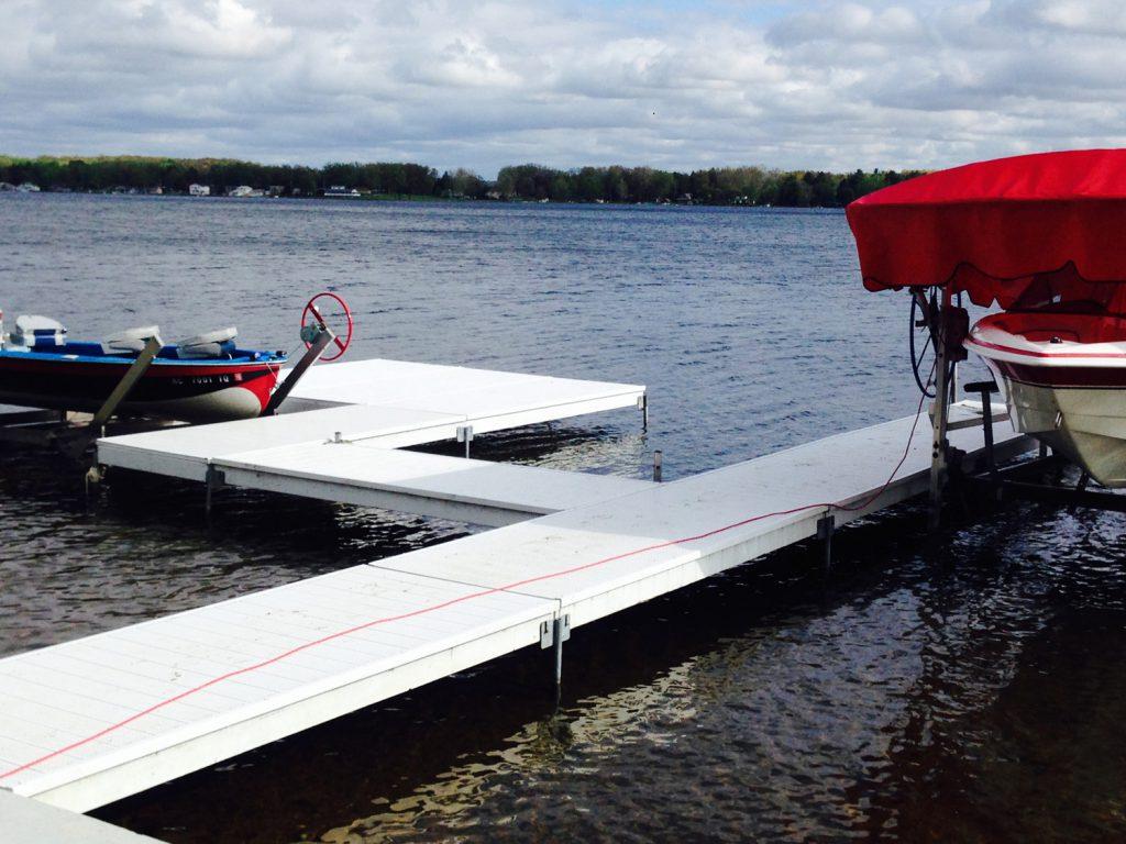 Dock installation in Kalamazoo County Michigan