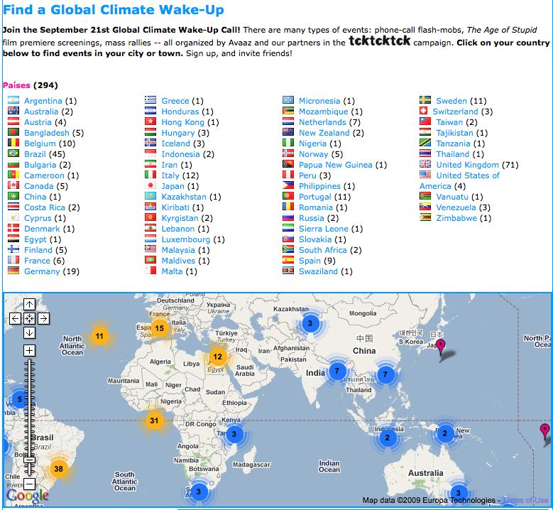 Dia 2 Global climate woldwide wakeup initiative