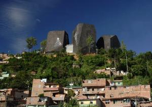 Dia 3 Medellin neighbourhood library adn park designed by Mazzani