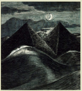 Paul ash, PYramids and the sea, 1912, source: