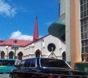 Iglesia Nuestra Señora de la Merced, San José, Costa Rica. 300D MERCEDES LANG W123
