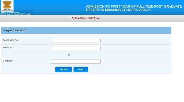 MAH MBA CET Hall Ticket 2020
