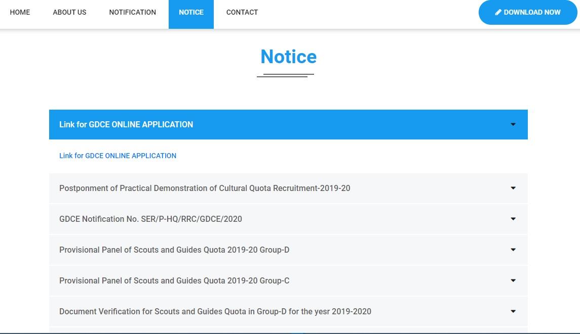 RRC SER ALP Recruitment 2020 Notification