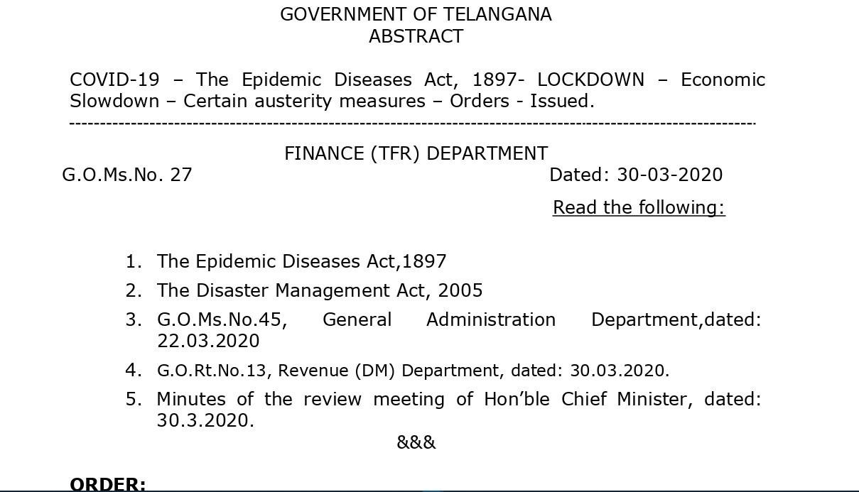 Telangana Govt Decided To Cut salaries across various categories