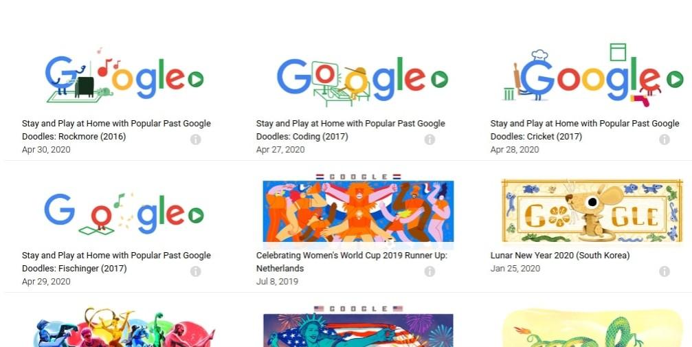 Popular Google Doodle Games List