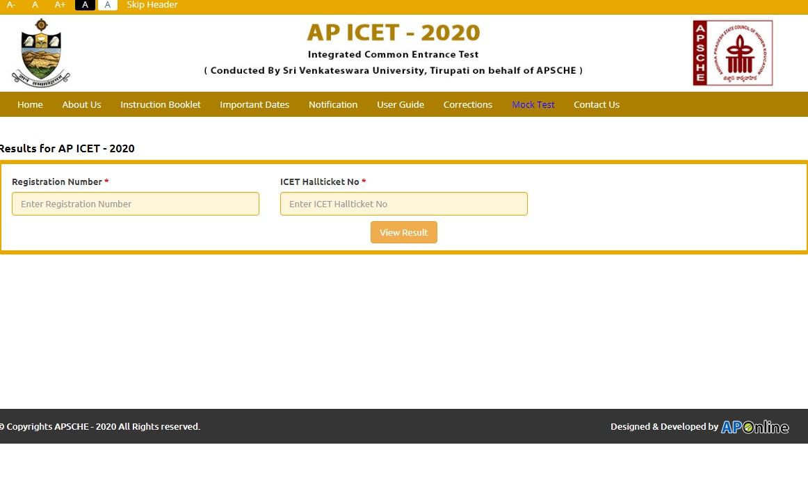 AP ICET Results 2020 Manabadi