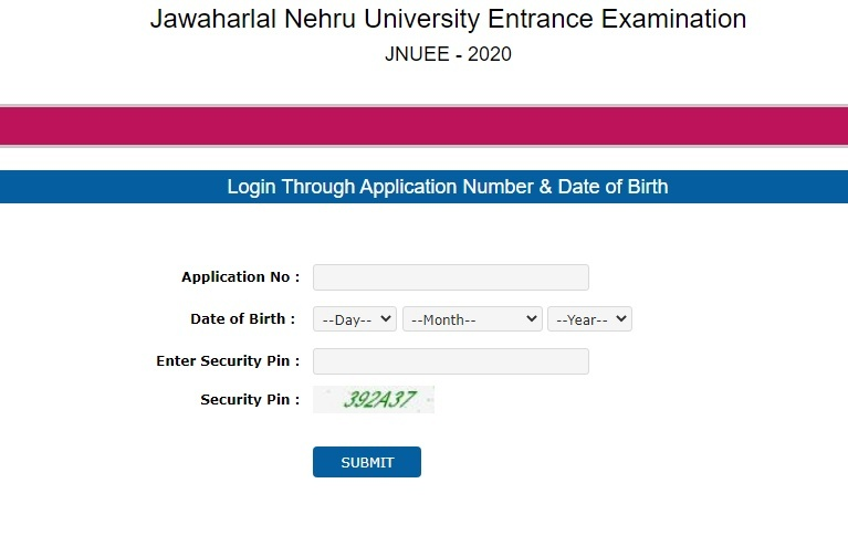 JNUEE Admit Card 2020 released