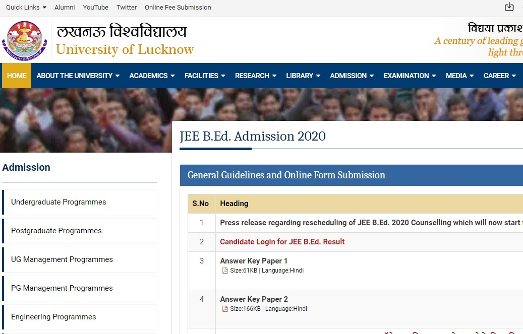 UP BEd JEE 2020 Counselling