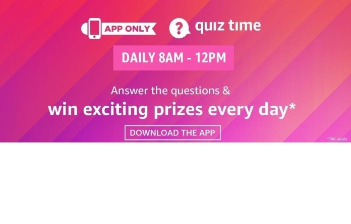 Amazon Quiz 2 November 2020 Answers