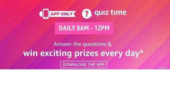 Amazon Quiz 2 November 2020 Answers