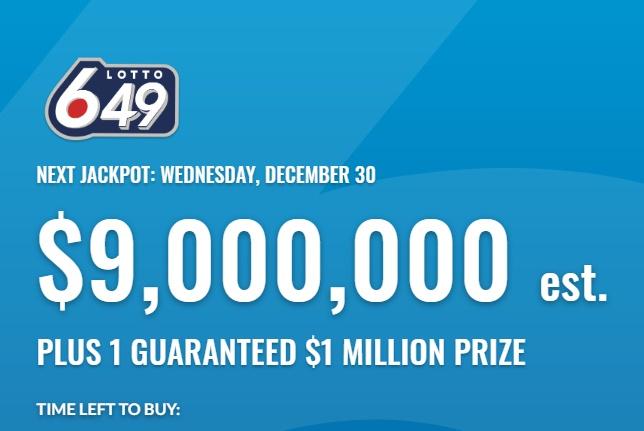 Lotto 649 Dec 30 2020 Winning Numbers
