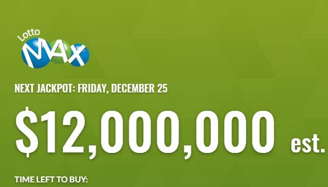 Lotto Max Dec 25 2020 Winning Numbers