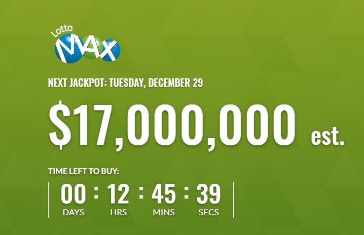 Lotto Max Dec 29 2020 Winning Numbers