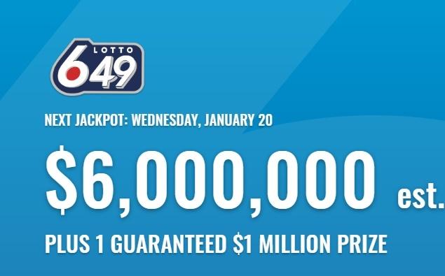 Canada Lotto 649 Jan 20 2021 Winning Numbers