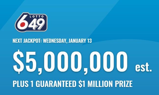 Lotto 649 Jan 13 2021 Winning Numbers