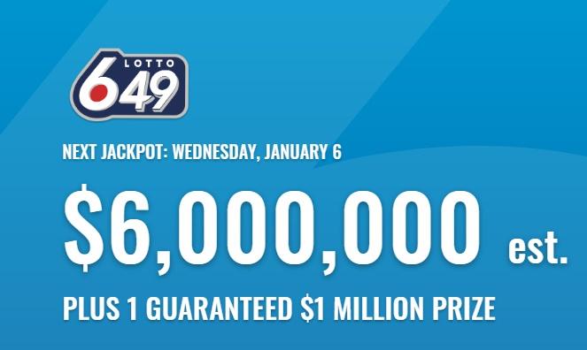 Lotto 649 Jan 6 2021 Winning Numbers