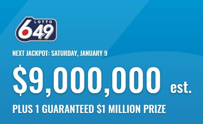 Lotto 649 Jan 9 2021 Winning Numbers