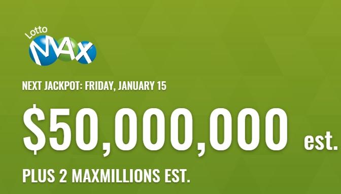 Lotto Max Jan 15 2021