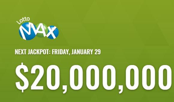 Lotto Max Jan 29 2021 Winning Numbers