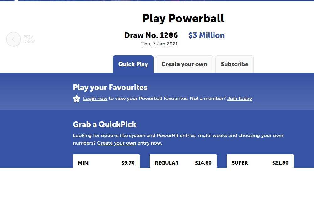Powerball 1286 Results