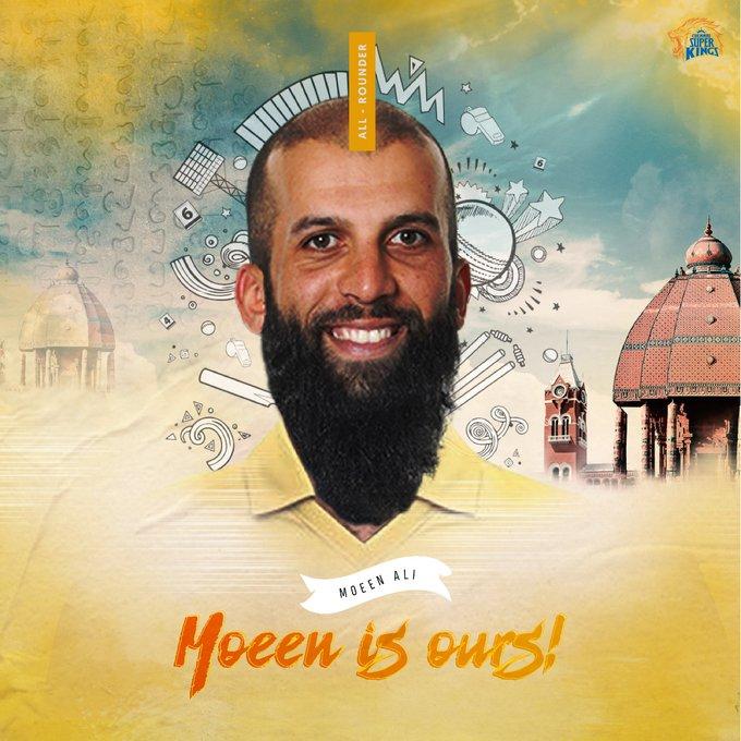 CSK Picks Moeen Ali