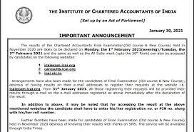 ICAI CA Final Exam Result Nov 2020
