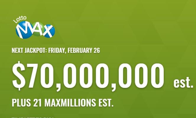 Lotto Max Feb 26 2021 Winning Numbers